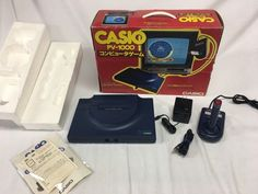 1983 CASIO PV-1000 Console system Computer Japan VINTAGE BOX Game Never Used