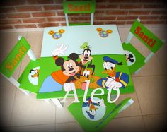 mesa y sillas infantiles Decoupage, Projects To Try, Aqua, Pink, Ideas, Madeira, Table And Chairs, Preschools, Guys