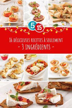 Pas besoin de se casser la tête pour les bouchées festives! Découvrez nos 86 recettes à seulement 3 ingrédients pour vous inspirer! Inspirer, Lunches, Buffet, Ethnic Recipes, Interesting Recipes, Eat Lunch, Meals, Catering Display, Lunch Buffet