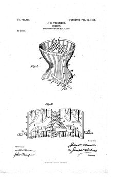 Patent US721621 - CORSET - Google Patents- 1903