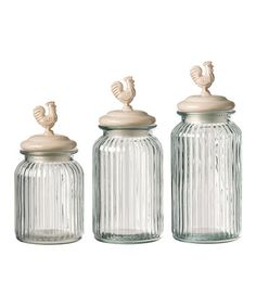 Look what I found on #zulily! Homestead Round Glass Canister Set #zulilyfinds