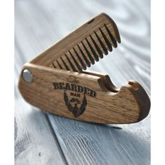 Folding Comb the Bearded Men Personalized Wooden Comb Gift Idea for... (2250 RSD) ❤ liked on Polyvore featuring men's fashion, men's grooming, men's shaving, accessories, decorative combs, grey, hair accessories, mens comb, mens grooming and mens hair comb