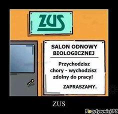 ZUS-salon odnowy biologicznej
