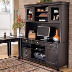 Carlyle Large Credenza and Large Hutch by Ashley Furniture -http://furnishamerica.com/office-suites.aspx