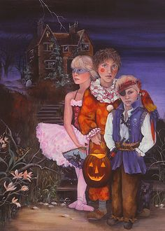 Childhood Haunts By Artist-Lori Preusch. Whimsical, visionary, fanciful and imaginative artwork. Features children, fairies and wildlife. Pinned from her website.