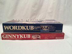 Great for Game Night!  Workdkub 1985 & Ginnykub 1983 Complete in Box #Pressman