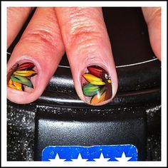 Thanksgiving nail art by me check out www.MyNailPolishObsession.com for more nail art ideas.