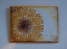 Friday, May Sunflower . Sunflowers Background, Sunflower Cards, Thanks Card, Pink Paper, Heart Cards, Fall Cards, Walking In Nature, My Favorite Color, Stampin Up Cards