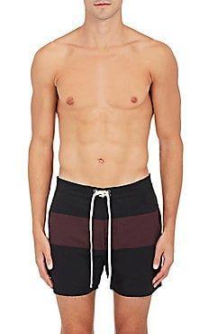 378dfe8a1c Grant Striped Swim Trunks Mens Designer Swimwear, Saturdays Surf, Swim  Shorts, Mens Fashion