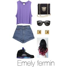 buy online eb58d 46587 10.19.13 Ootd , Out w  bf (  by ayemely on Polyvore Cheap Jordan 5 Retro  Grape only  57.56, save up to 57% off for all  Nikes  Shoes