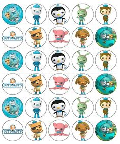30 Octonauts Cupcake Toppers Edible Wafer Paper Buy 2 Get 3rd FREE!