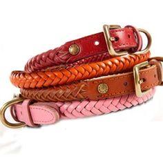 Braided Leather Collar