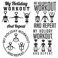 My holiday workout. Silhouette Cameo Tutorials, Silhouette Projects, Funny Christmas Shirts, Christmas Humor, Holiday Workout, Monogram Fonts, Monograms, Cutting Tables, Vinyl Crafts