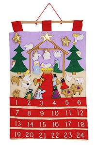 Nativity Fabric Advent Calendar at The Autism Site
