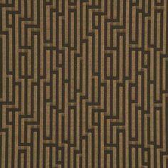 FRETWORK WEAVE - CHOCOLATE  Multipurpose  Black  Brown  Geometric  G. P. & J. Baker
