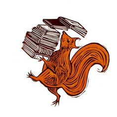 #squirrel with a stack of books, illustration by Tamsin Gilbert, woodcut style re-pinned by: http://sunnydaypublishing.com/books/