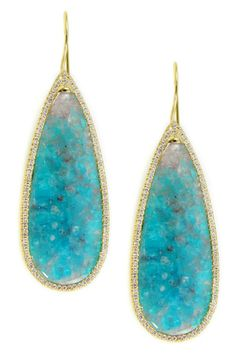 Tourmaline and diamond earrings - Denise James Jewelry