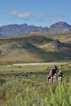 Riders on route at the Ride2Nowhere 2014, www.ride2nowhere.co.za