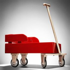 The best children's gifts are handmade wood toys, and when they are as sharp looking as this red wagon, they'll be cherished forever.  How to Build a Wood Wagon