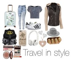 """Travel"" by nibbby on Polyvore featuring Ted Baker, Coast, Black Rivet, adidas Originals, Casetify, Beats by Dr. Dre, Vivienne Westwood, Charlotte Tilbury and plus size clothing"