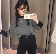 asian fashion fall korean fashion that is really hot! Korean Outfits, Mode Outfits, Grunge Outfits, Fall Outfits, Casual Outfits, Fashion Outfits, Womens Fashion, Fashion Tips, Fashion Ideas