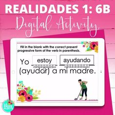 Are you looking for an interactive, FUN way for your Spanish students to study the material from Chapter 6B of the Realidades 1 textbook digitally? If so, these self-checking, SELF-GRADING Spanish Boom Cards are just what you need! Students will be engaged and get a great review as they work their way through the 50 cards in the deck! Cards can be played on a computer, tablet, phone, or other mobile device and can be paired easily with Google Classroom. Both students AND teachers love these!