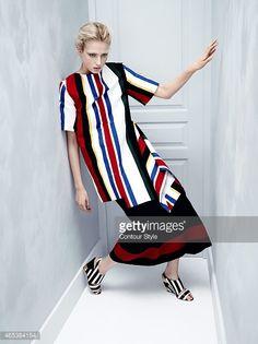 Contour Style- Stripes a Go-Go, Madame Figaro, February 27, 2015 : News Photos