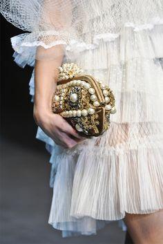 sheer ruffles...  garavani   Detail @ Dolce & Gabbana F/W 2012