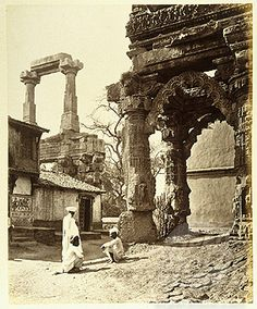 Ruins of the Rudra Mahalaya Temple at Siddhpur, Gujarat. The Hindu Temple was destroyed during the Mughal Invasion by the muslim sultan Ahmad Shah
