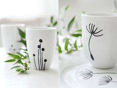 Dandelion Dot Mugs