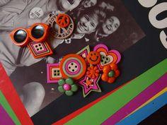 Boutons psychédélique rock, flower power, mode adolescente chez Récréatys | Couture Facile I Paritys