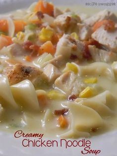 Recipe Swagger: Creamy Chicken Noodle Soup. I substituted potatoes for the noodles and made more like a chowder. It was delicious. Also used fresh veggies.