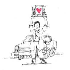 The Secret Life of Love. Day #212. #sayanything #sketchaday #sketch #illustration #johncusack