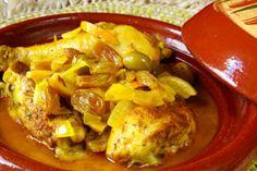 tajine poulet au citron confit et olive