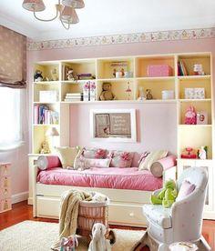 Teenage Girl Bedroom Designs, Teen Girl Rooms, Teenage Girl Bedrooms, Little Girl Rooms, Small Room Bedroom, Baby Bedroom, Small Rooms, Girls Bedroom, Bedroom Decor