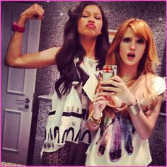 Bella Thorne and Zendaya Coleman greeted by screaming fans in Paris, France!