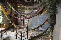 hanging floral garlands- martha stewart x madefloral