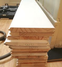"""Tongue and Groove Paneling - for adding """"shiplap""""."""