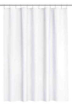 Duschvorhang : Duschvorhang aus wasserabweisendem Polyester mit Metallösen zum…