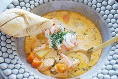 Baby Food Recipes, Soup Recipes, Swedish Recipes, Fish And Seafood, Dory, Food Inspiration, Thai Red Curry, Dinner Soups, Food And Drink