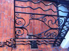 Elegant wrought iron fence