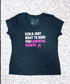 """@misst wearing Cyndi Lauper's """"Girls Just Want to Have Fundamental Rights"""" shirt!"""