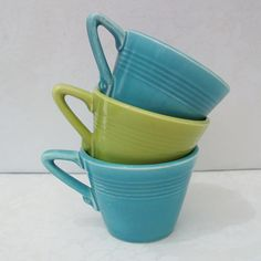 Harlequin tea cups by Homer Laughlin