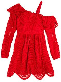 Bardot Junior Girls  Asymmetrical Lace Dress - Big Kid Bardot Junior 26e55b256