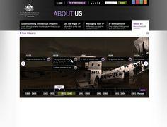 Interactive timeline for IP Australia by Stefania Bonacasa, via Behance