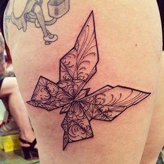 Thanks vale  #origami #tattoo #tattooexponapoli by Miss Juliet