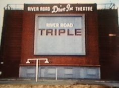 River Road Drive-In in Longview, Texas: Back of the Screen of the River Road Drive In. This photo shot is from the TV! Taken from the video
