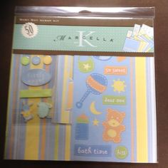 NEW Baby Boy Scrapbooking Kit from K Marcella on Etsy, $3.99