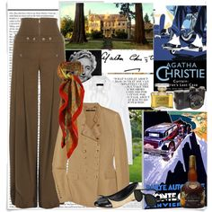 Henrietta Savernake by ekstin on Polyvore featuring Burberry, Gucci, Tory Burch, Liberty, Moscot, Jean Patou, Monte Carlo, Market, Unis and McGuire