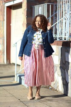 Asos pineapple shirt and pink metallic skirt